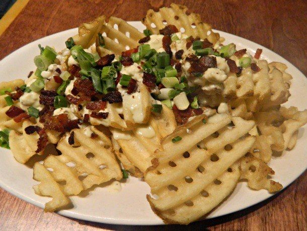 Cheese Fries With Bacon And Jalapenos