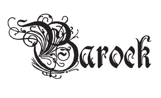 barock schriftzug barockdeko barock kunst und kunstverein. Black Bedroom Furniture Sets. Home Design Ideas