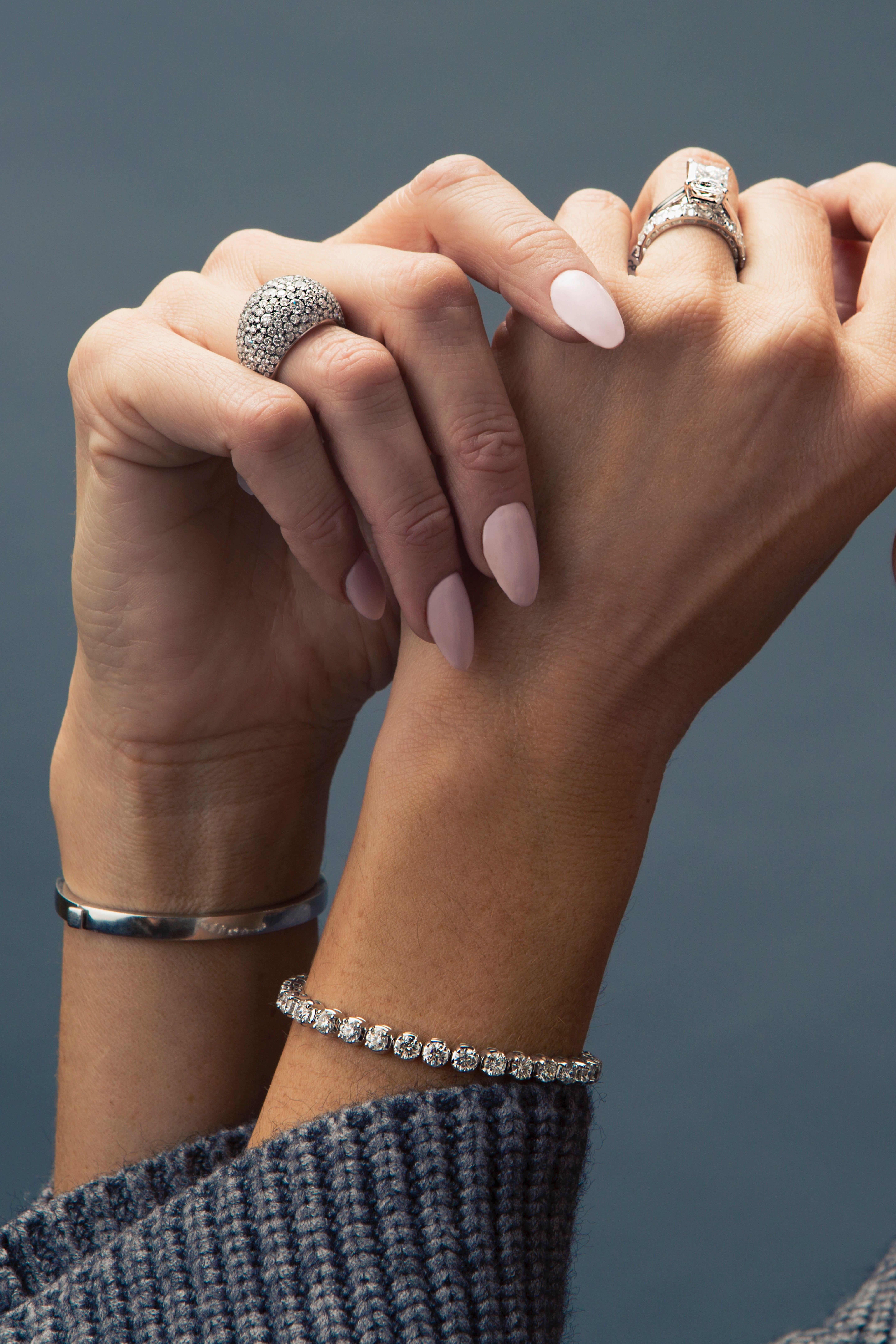 4 Prong Diamond Tennis Bracelet Tennis Bracelet Diamond Bracelets Gold Diamond Jewelry Bracelets Gold