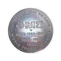 Tankdeckel MZ ES, TS, blank mit Aufschrift World Trophy Winner 1963-1969