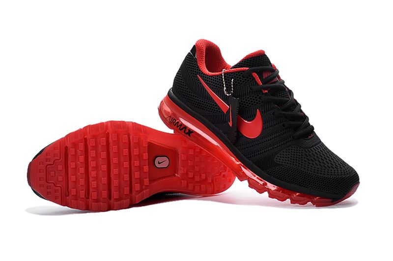 nike air max 2017 black and red