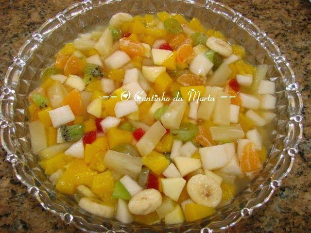 O Cantinho da Marta: Salada de Frutas