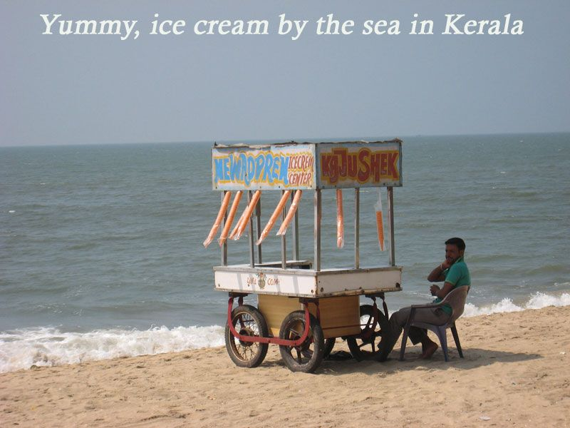 Kerala India, a sandy beach, fresh ice cream, and lots of sunshine, what more could one want? GoAvenues, Body and Soul DMC