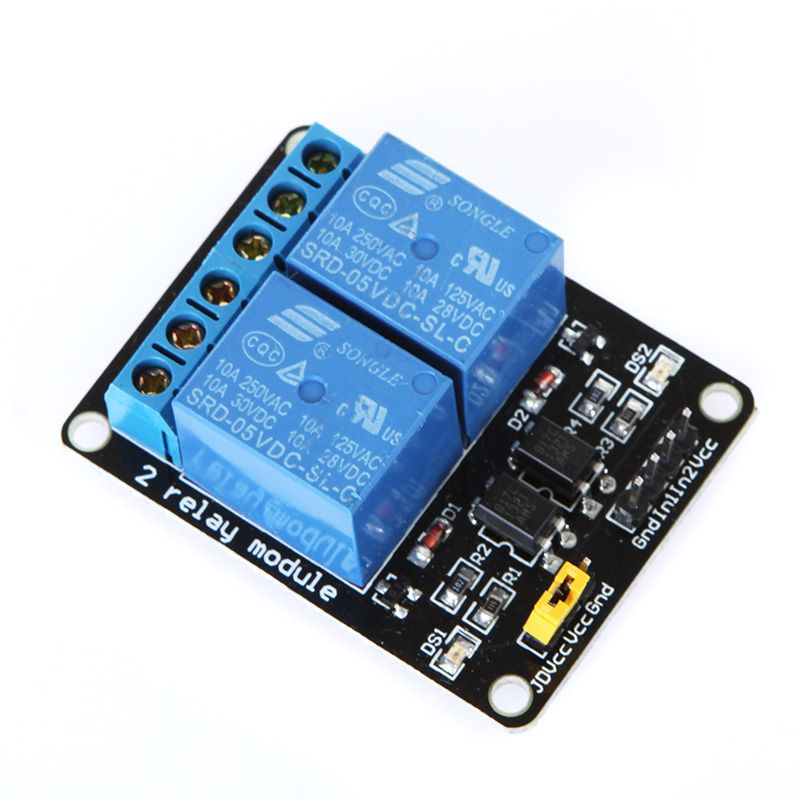 5v Active Low 2 Channel Relay Module Board For Arduino Pic Avr Mcu