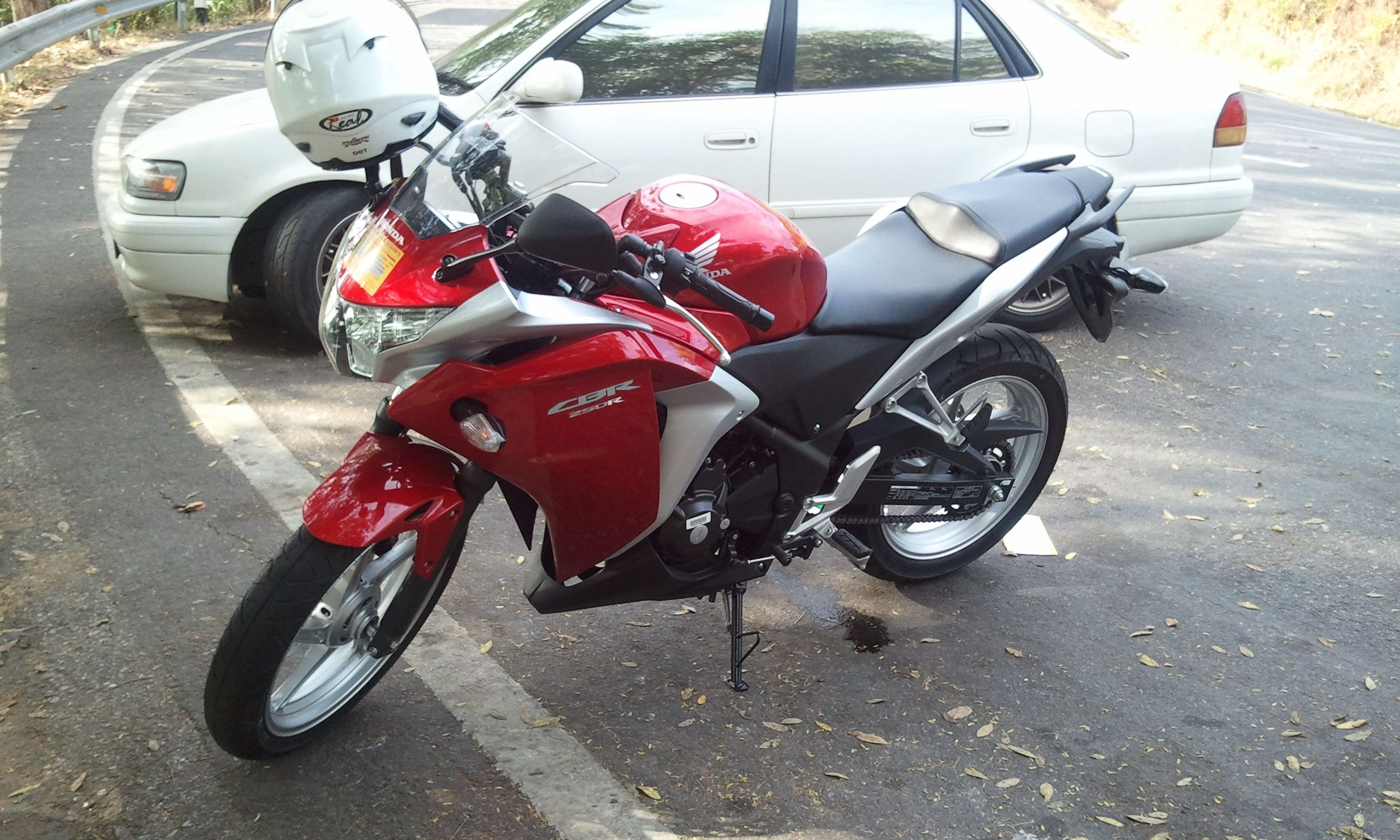 Cbr 250r parked in chiang mai thailand