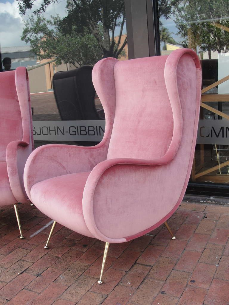 Pink velvet vintage chaise lounge chair google search
