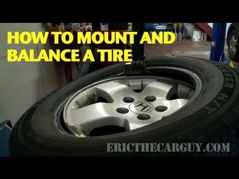 How To Mount And Balance A Tire Ericthecarguy Auto Repair Repair Repair And Maintenance