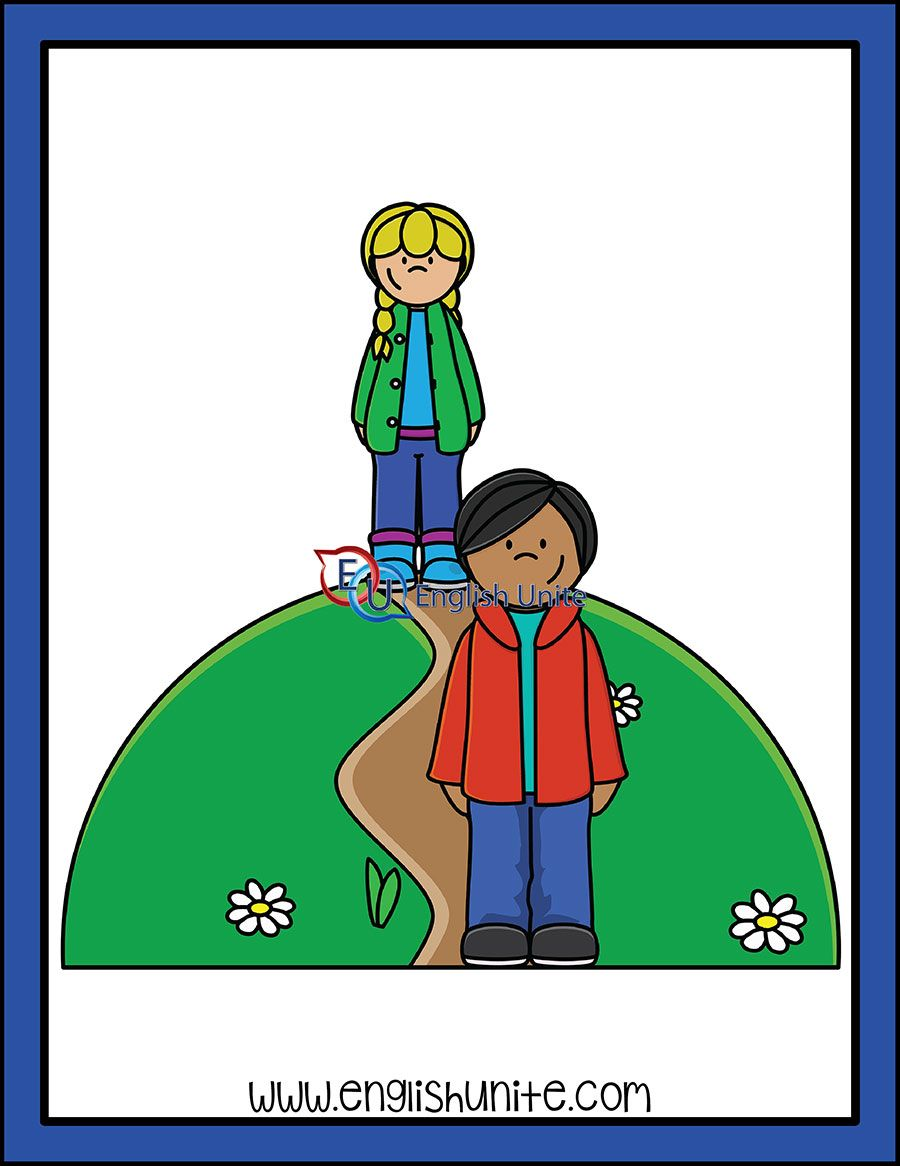 Adjective Far English Unite Clip Art Kids Clipart White Image