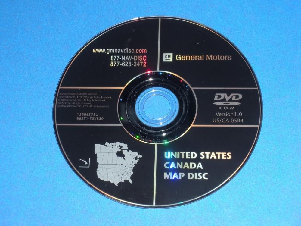 Genuine GM OEM Navigation System Map DVD North America 15906573U ...