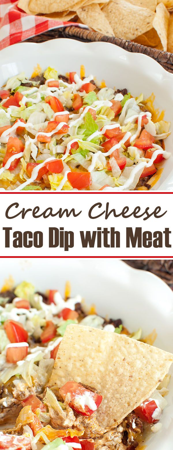 Cream Cheese Taco Dip with Meat