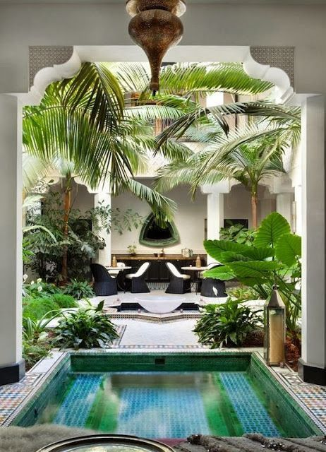 Attractive Casbah Cove: Luxury Moroccan Riad In Palm Desert Tropical Home :: Paradise  Style :: Living Space :: Dream Home :: Interior Outdoor :: Decor Design ::  Free ...