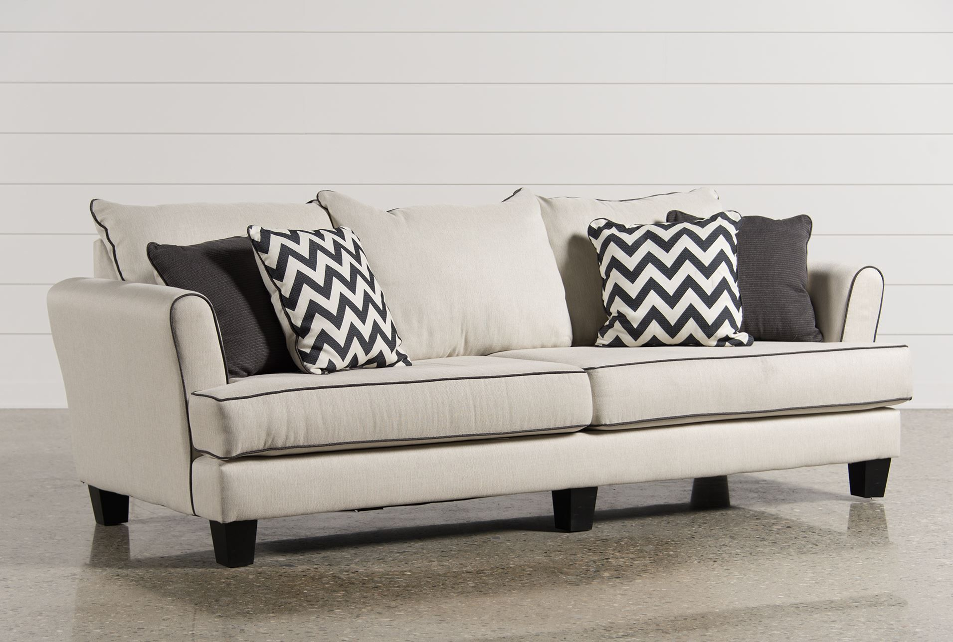 Cole Sofa $595 Living Spaces... Can Customize But I Donu0027t Think Piping  Comes With That