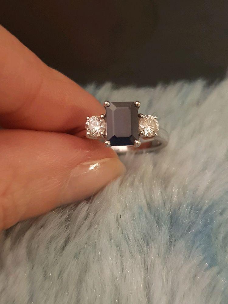 Beaverbrooks Sapphire And Diamond Engagement Ring Size J Engagement Ring Sizes Diamond Engagement Rings Engagement Rings
