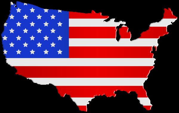 Usa Map Flag Png Clip Art Image American Flag Clip Art Clip Art Art Images