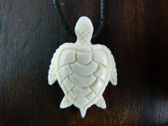 Sea Turtle Necklace White Bone Necklace Hand Carved Turtle Etsy In 2020 Sea Turtle Necklace Animal Totem Necklace Turtle Necklace