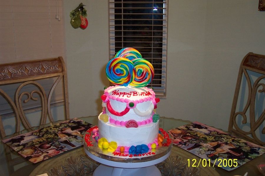 10 Year Old Cakes Candy Cake This Birthday Cake Was Made For A 10