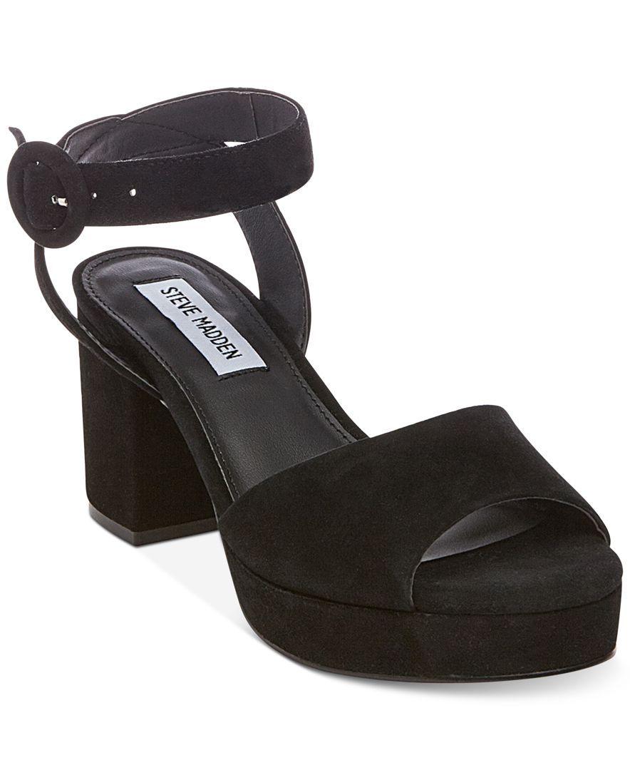 33854847f47 Steve Madden Women s Tickle Two-Piece Platform Sandals