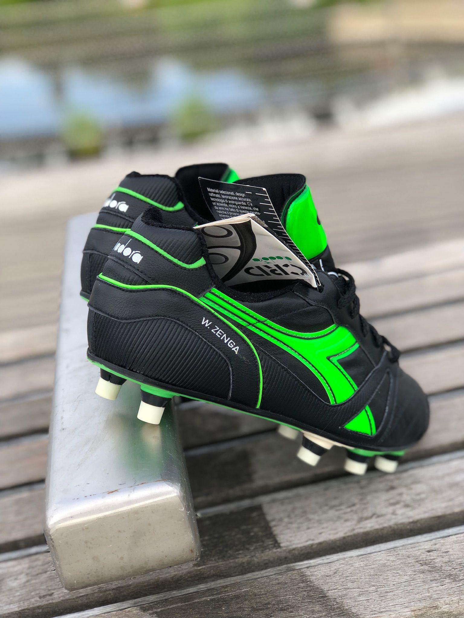 Diadora Green Walter Zenga football boots Zapatos De Fútbol 6f1fc459ff2c2