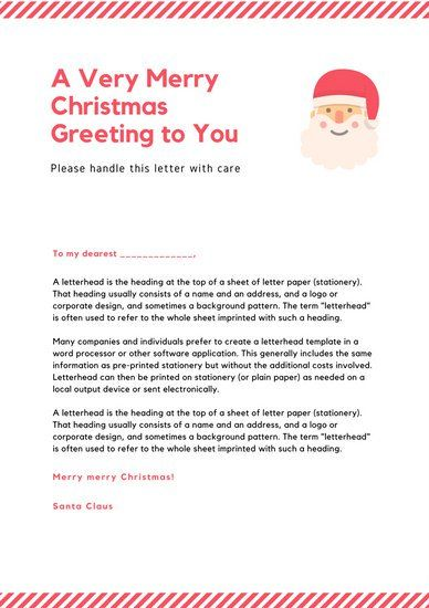 Red lines santa letter letterhead christmas pinterest sample red lines santa letter letterhead spiritdancerdesigns Image collections