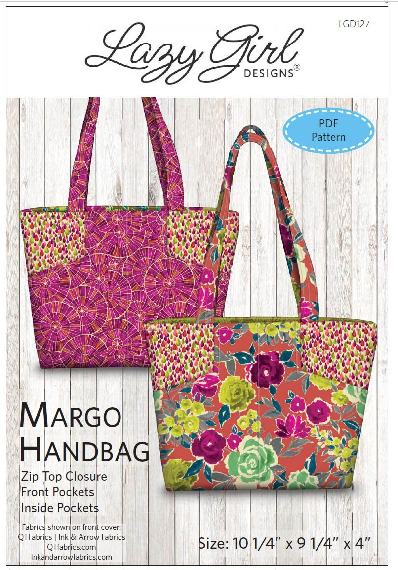 Brentwood Bag Pattern by Pink Sand Beach Designs PSB106 ~ Purse Tote Pockets