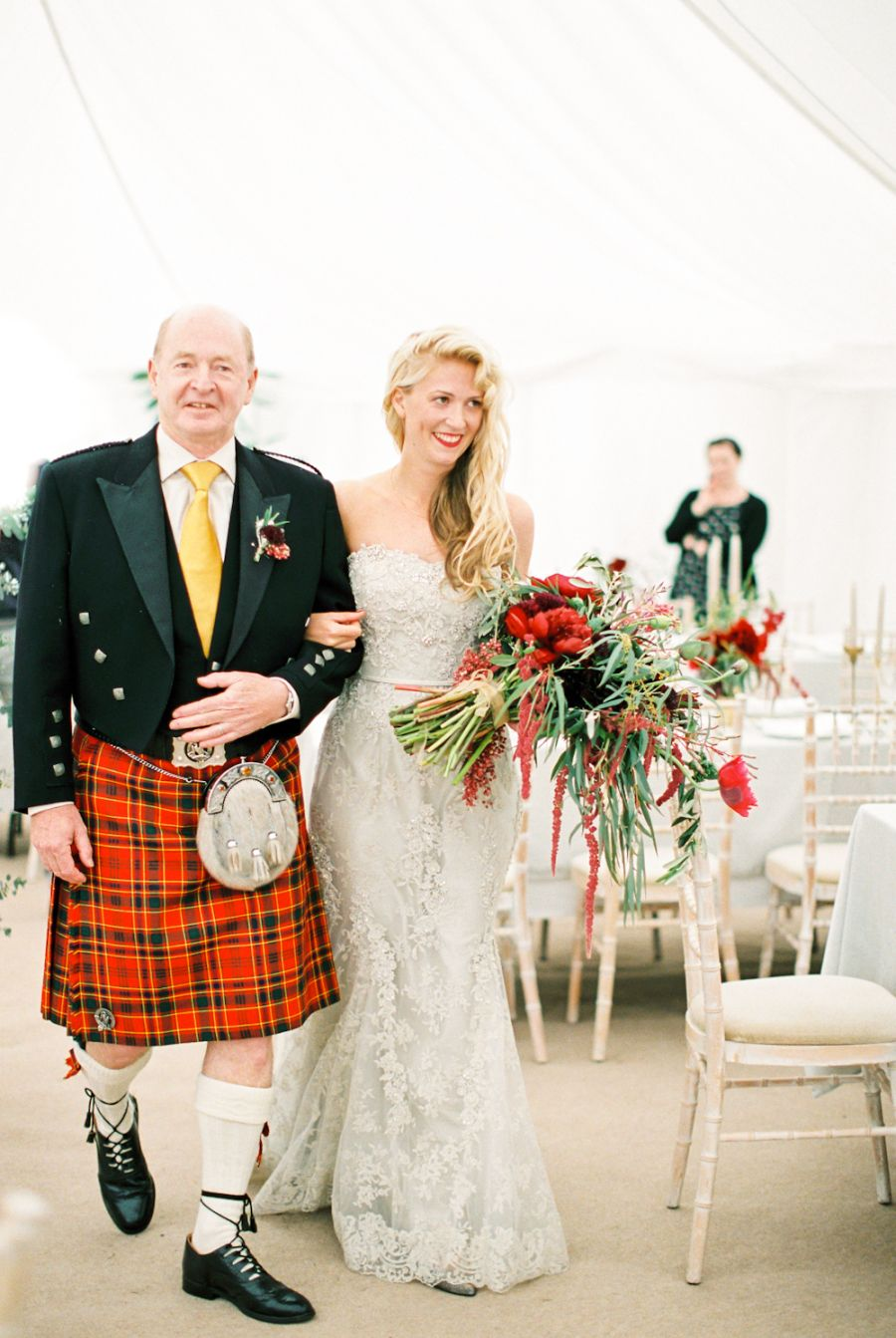 The Scottish Prove That Real Men Wear Kilts Father Of The Bride Attire Bride Attire Country Garden Weddings [ 1343 x 900 Pixel ]