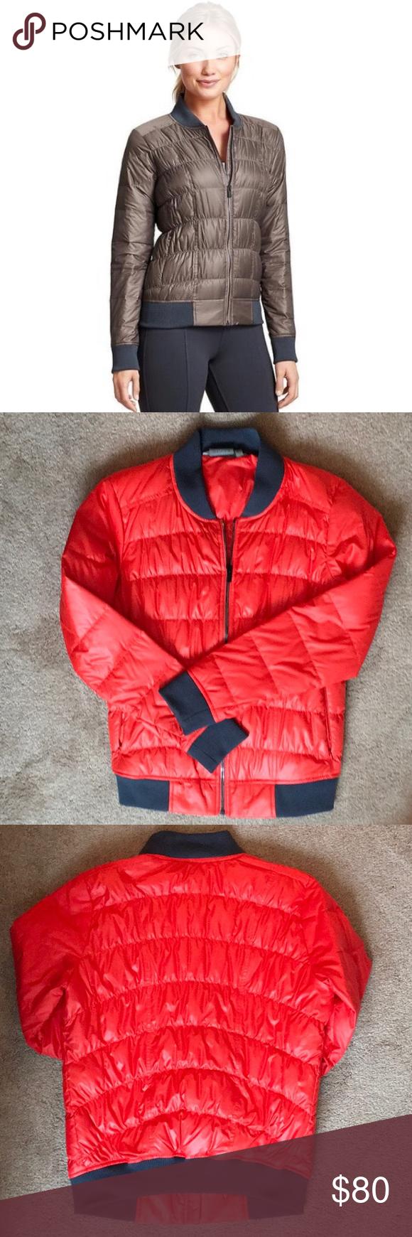 Athleta Dobby Down Bomber Jacket Jackets Bomber Jacket Clothes Design [ 1740 x 580 Pixel ]