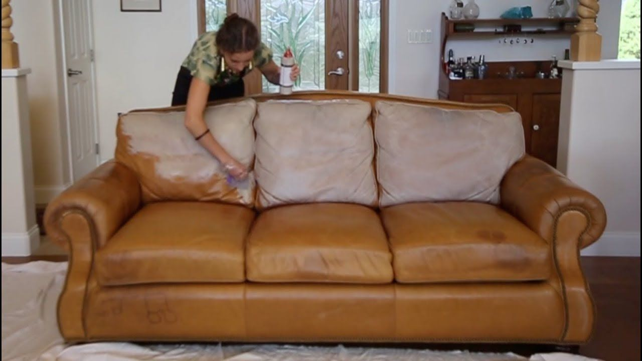 Finally A Polished Video For Our Website That Demonstrates Rub N Restore Magic Leather Paint And Tells The Wa Leather Couch Repair Leather Couch Cheap Couch