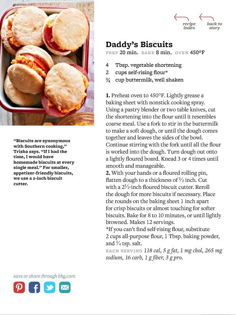 Trisha Yearwood Daddy S Biscuits Recipe Recipes Food Network Recipes Trisha Yearwood Recipes