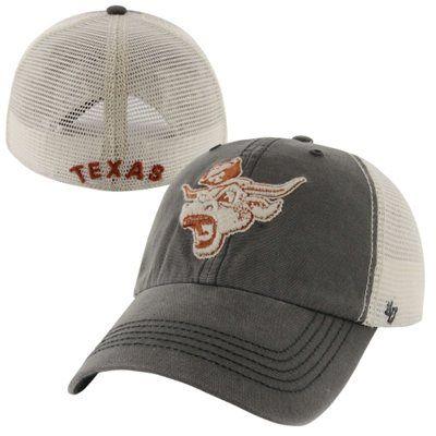 8422dce3aa6 47 Brand Texas Longhorns Caprock Canyon Logo Flex Hat - Gray White ...