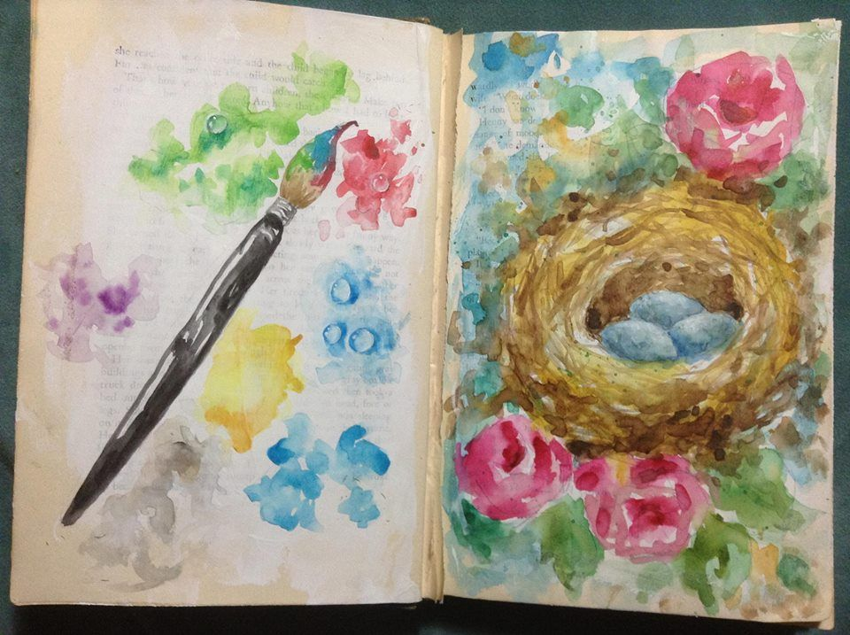Beautiful Art Journal Watercolor By Artist Laurie May Http