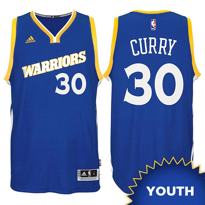 brand new 5e3a4 12715 Stephen Curry Youth Jersey: adidas Royal Stretch Crossover ...