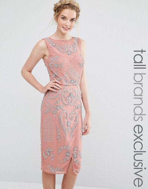 Maya Tall   Maya Tall All Over Embellished Midi Dress With Wrap ...