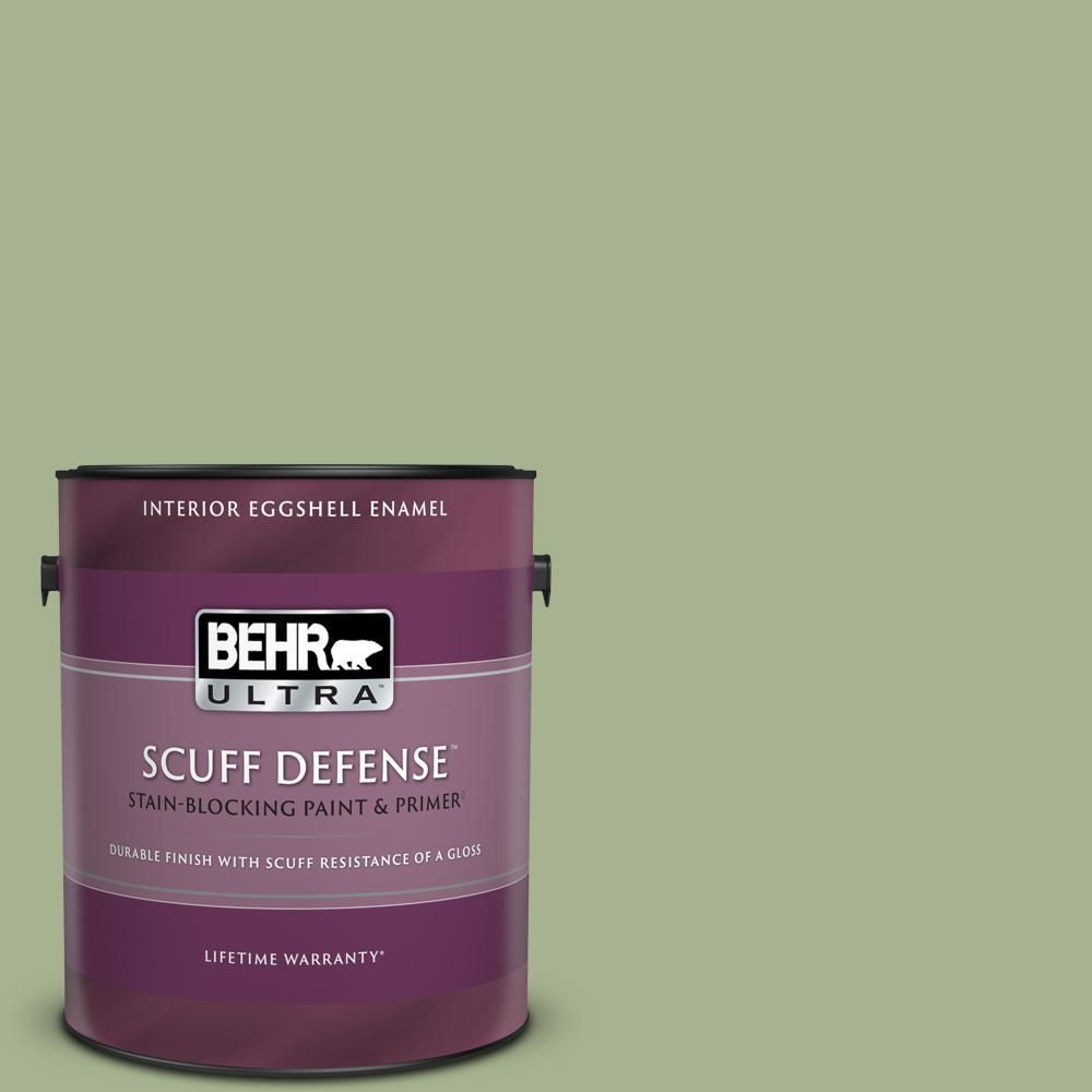 Behr Ultra 1 Gal Ppu11 06 Willow Grove Extra Durable Eggshell Enamel Interior Paint Primer 275401 The Home Depot Behr Ultra Paint Primer Interior Paint