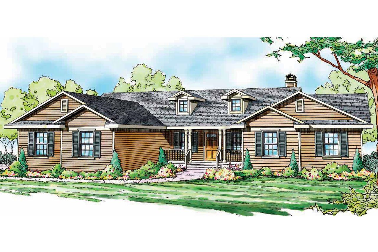 Ranch house plan the Heartville is a 2400 sq ft, 1 story