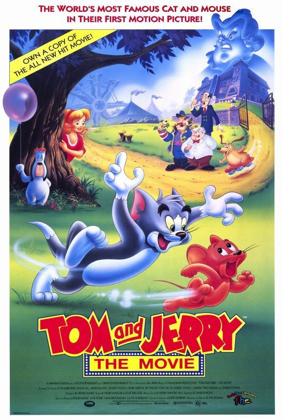 Tom and Jerry 27x40 Movie Poster (1990) in 2019   Movies ...