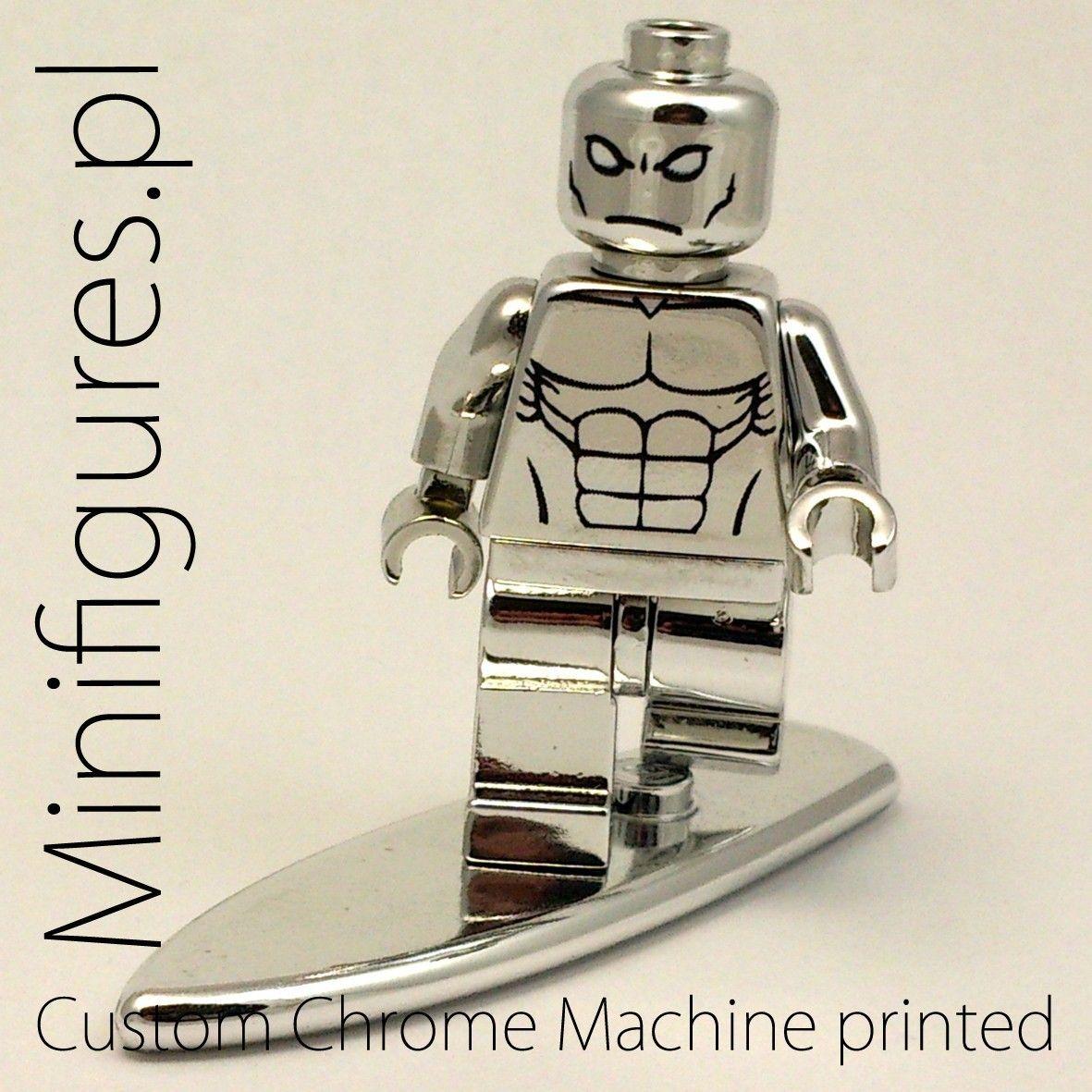 Lego Silver Surfer Chrome Machine Printed Custom Marvel Super Heroes Iron Man Circuit Superhros Comics Logostore