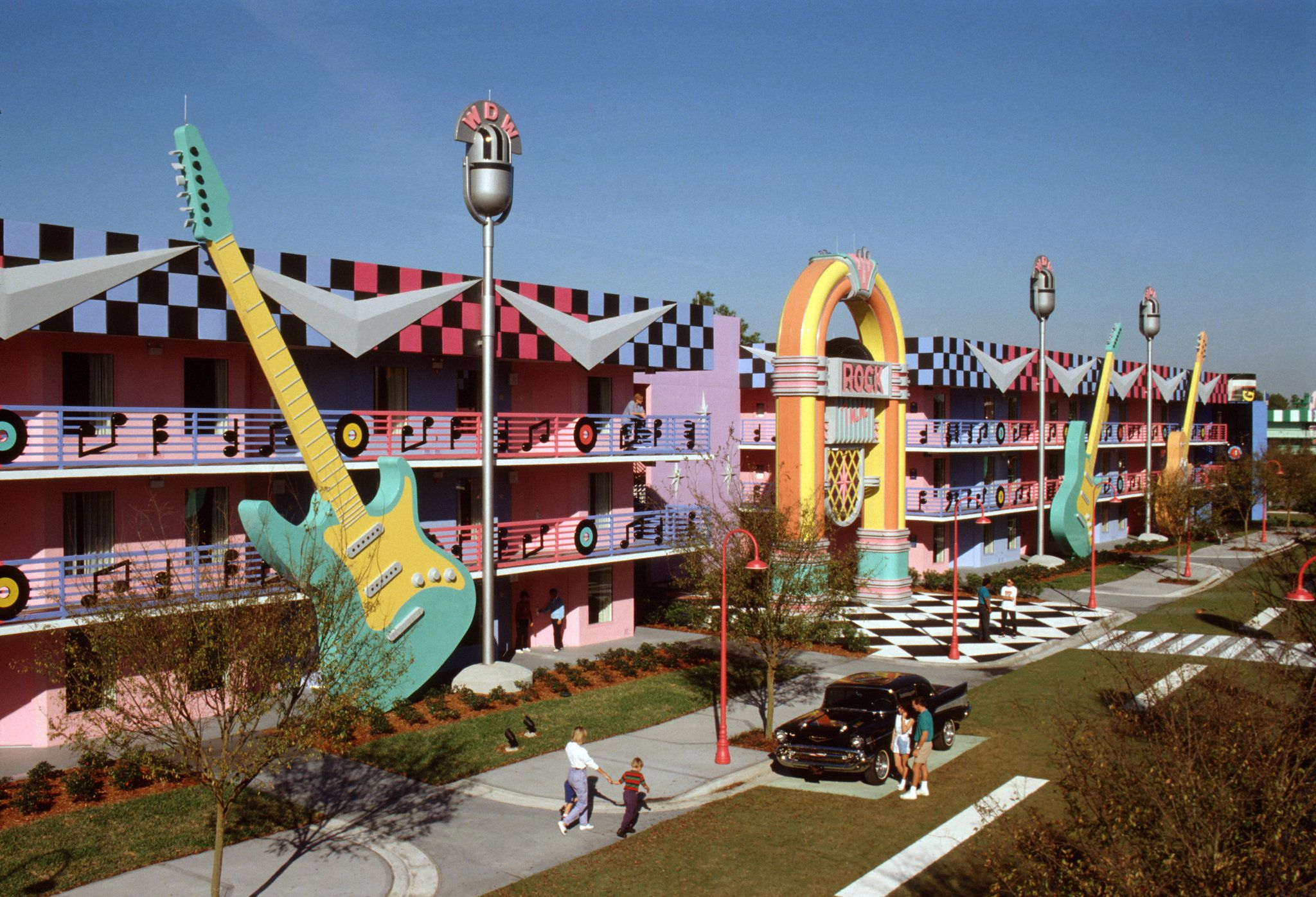 Inspired By Tunes Of The Past Century Disney S All Star Music Resort Features A
