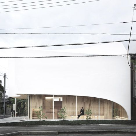 A Complex Arrangement Of Overlapping Wooden Joists Give A Twisted Roof To  This Dental Surgery In Osaka By Kohki Hiranuma Architect U0026 Associates.