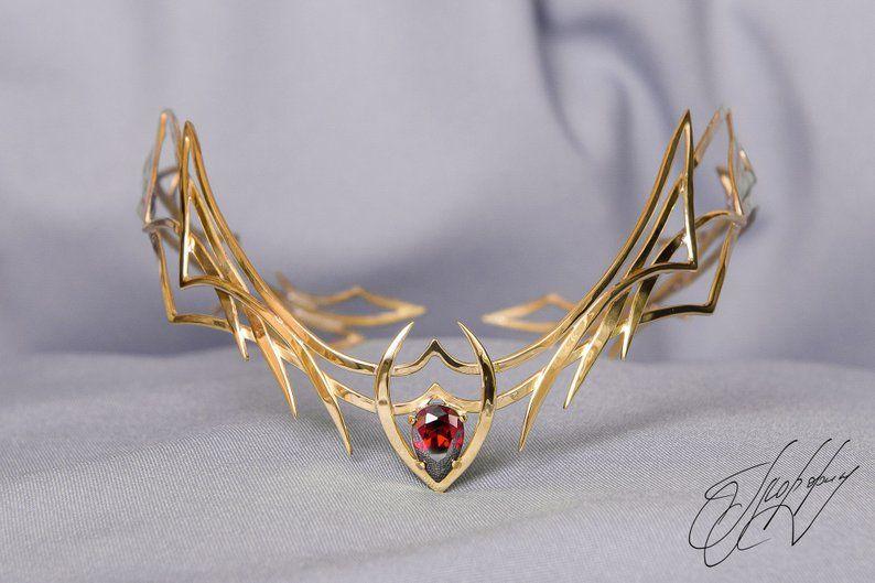 Movie The Hobbit Elven King Thranduil Crown Circlet Elven Elf Wedding Headwear