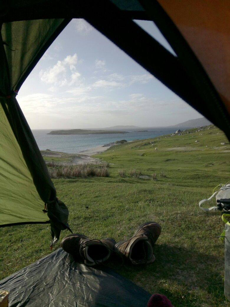 Wild camp from Hushinish, Outer Hebrides, with ...