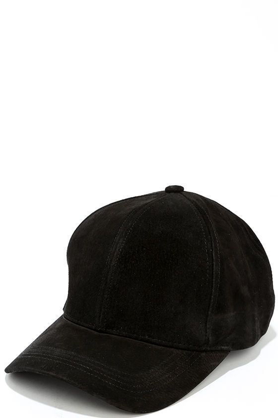 e8b2bb49e0e Chic Black Baseball Cap - Genuine Suede Baseball Cap - Ball Cap -  30.00