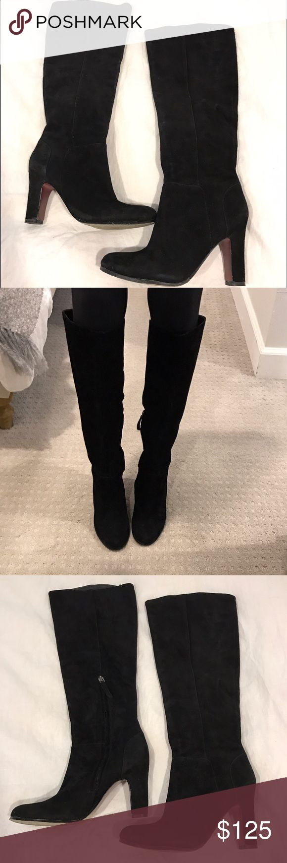 Selling this Sam Edelman black suede boots on Poshmark! My username is: brittnyguarine. #shopmycloset #poshmark #fashion #shopping #style #forsale #Sam Edelman #Shoes