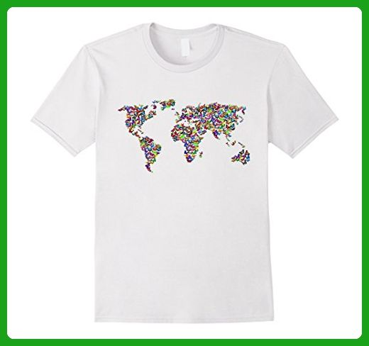 Mens awesome world map butterfly style gift tshirt medium white mens awesome world map butterfly style gift tshirt medium white animal shirts amazon gumiabroncs Gallery