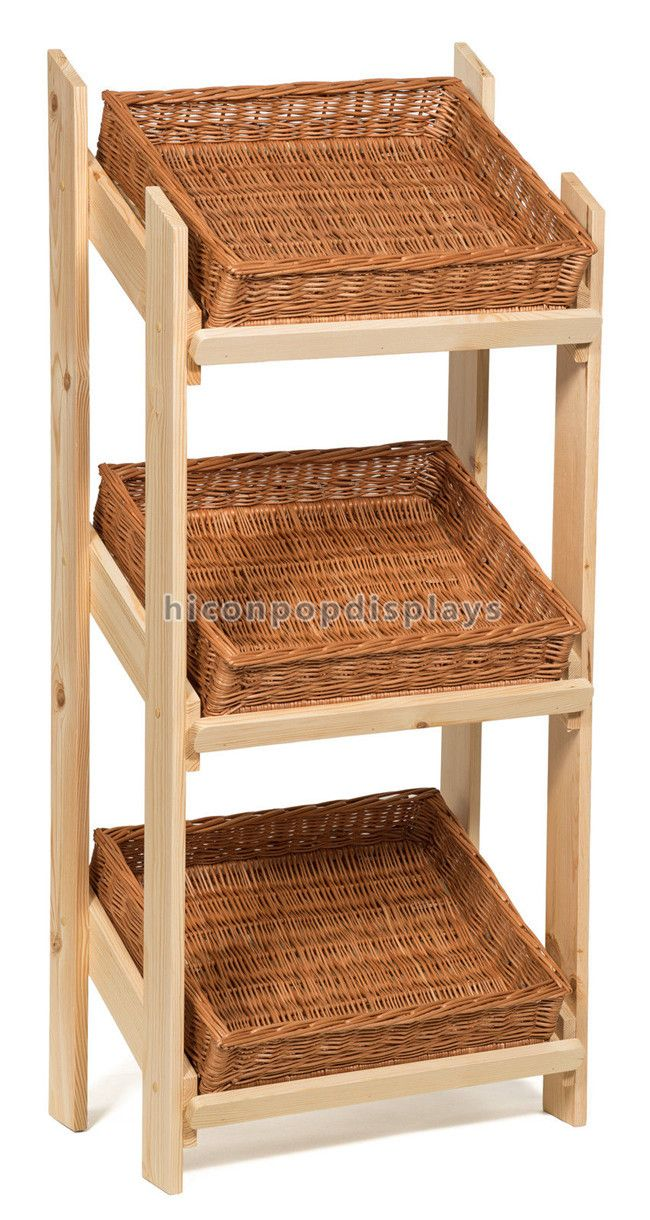 Wood Flooring Bread Display Stand 3 Tier Bakery Display Stand For Retail Store And Shops Wood Pallet Furniture Bakery Display Diy Furniture
