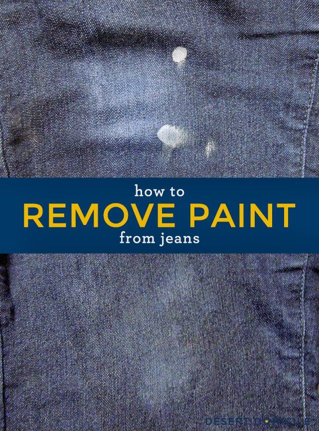 How To Remove Paint From Jeans No Chemicals Needed Just Some