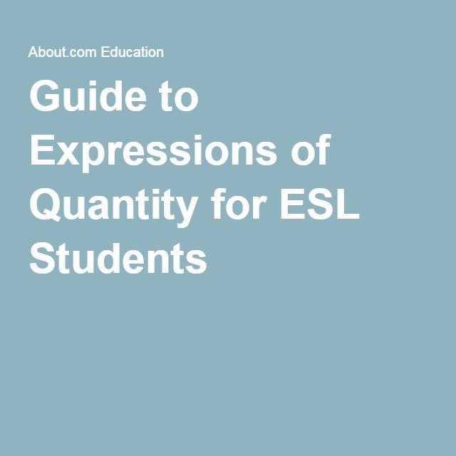 Expressions of Quantity for ESL Classes Teaching Ideas ESL