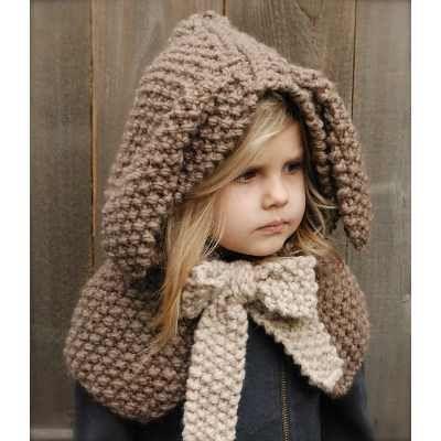 Gorro Tejido Crochet Con Orejas De Conejo Bebe Niño Adulto ...