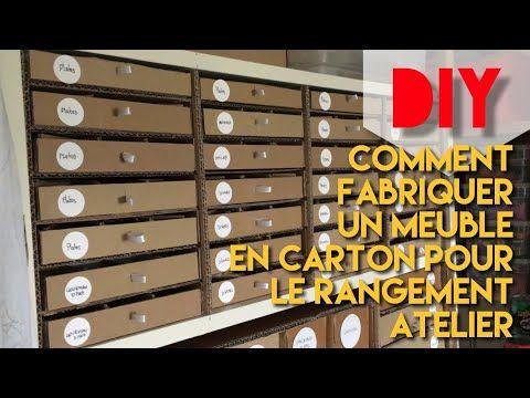 DIY : COMMENT FABRIQUER UN MEUBLE EN CARTON POUR LE RANGEMENT ...