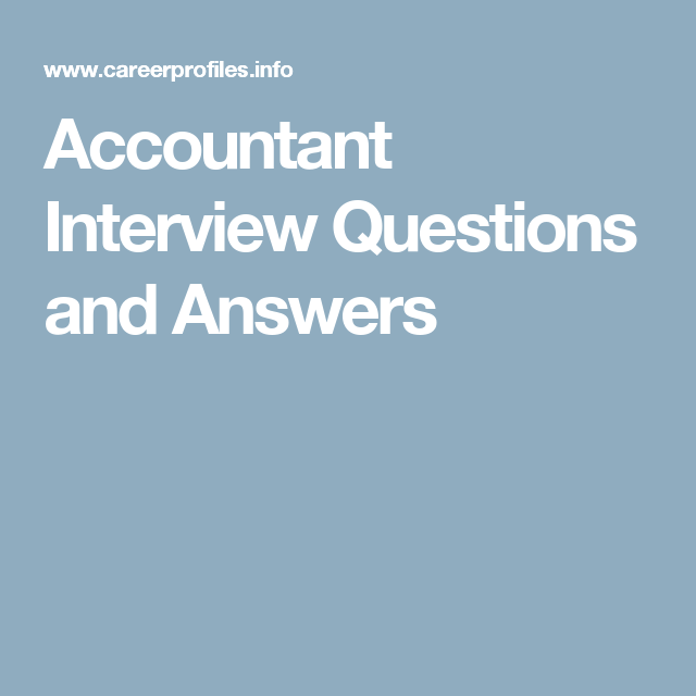 Accountant Interview Questions and Answers