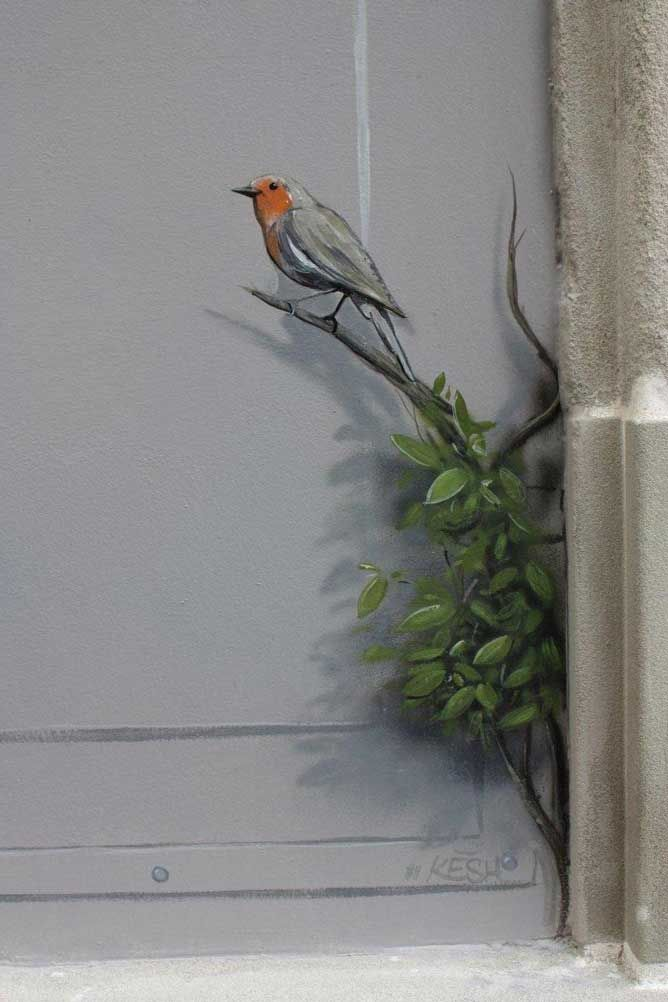 oiseau lausanne trompe l oeil jardinage. Black Bedroom Furniture Sets. Home Design Ideas